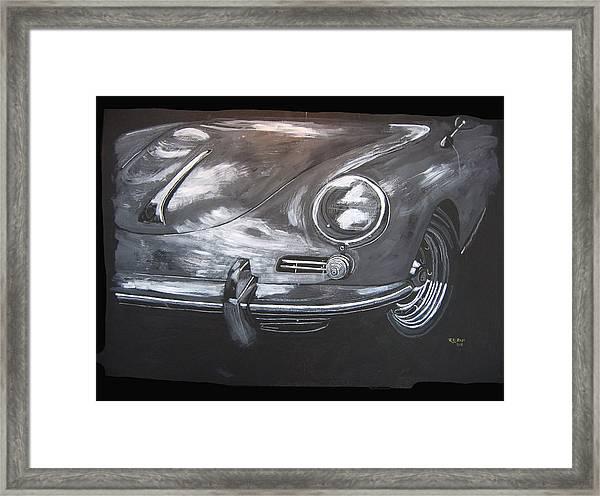 356 Porsche Front Framed Print