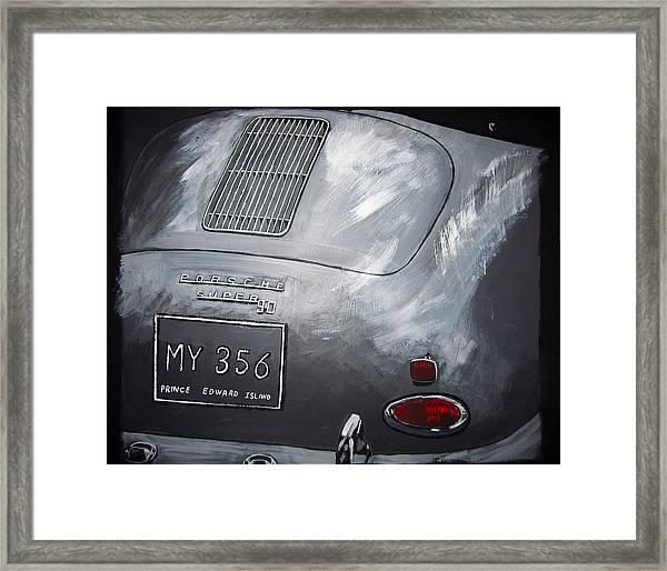 356 Porsche Rear Framed Print