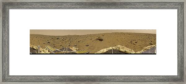 360 Degree Panorama Mars Pathfinder Landing Site Framed Print