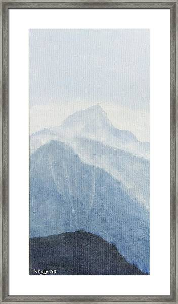 Framed Print featuring the painting 36.5616n 118.2251w by Kevin Daly