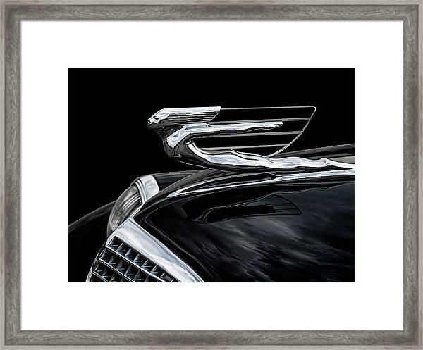 37 Cadillac Hood Angel Framed Print