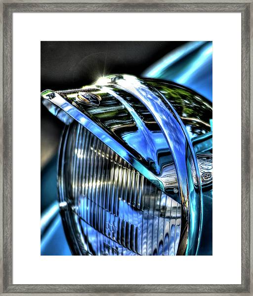 38 Ford Headlamp Framed Print