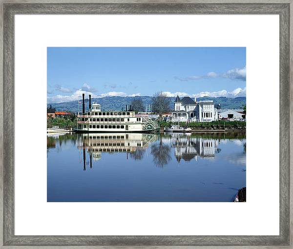 3b6380 Petaluma Queen Riverboat Framed Print