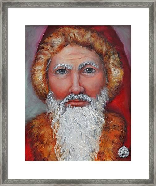 3d Santa Framed Print
