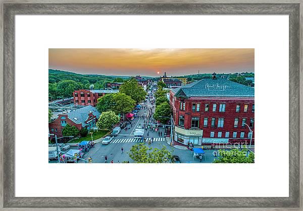 3rd Thursday Sunset Framed Print