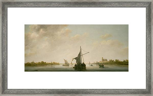 A View Of The Maas At Dordrecht Framed Print