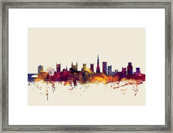Bristol England Skyline Framed Print