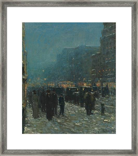 Broadway And 42nd Street Framed Print
