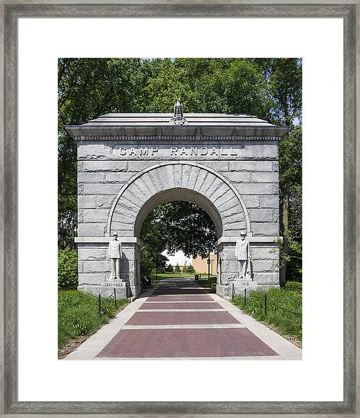 Camp Randall Memorial Arch - Madison Framed Print