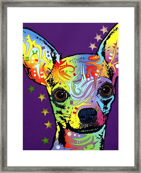 Chihuahua Warrior Framed Print by Dean Russo Art