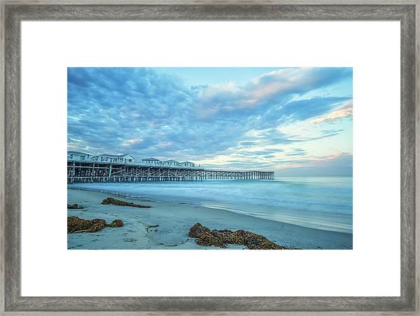 Cloud Cover Over Crystal Pier Framed Print