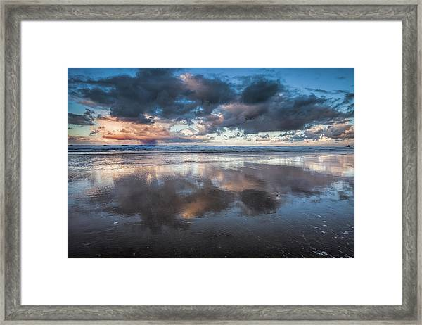 Coastal Reflections Framed Print by Andrew Soundarajan