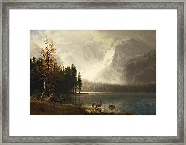 Estes Park, Colorado, Whyte's Lake Framed Print