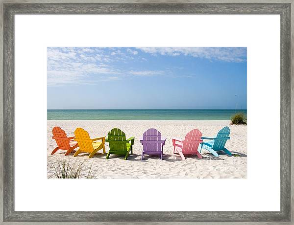 Florida Sanibel Island Summer Vacation Beach Framed Print