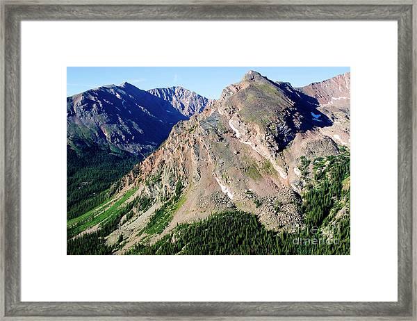 Hiking The Mount Massive Summit Framed Print