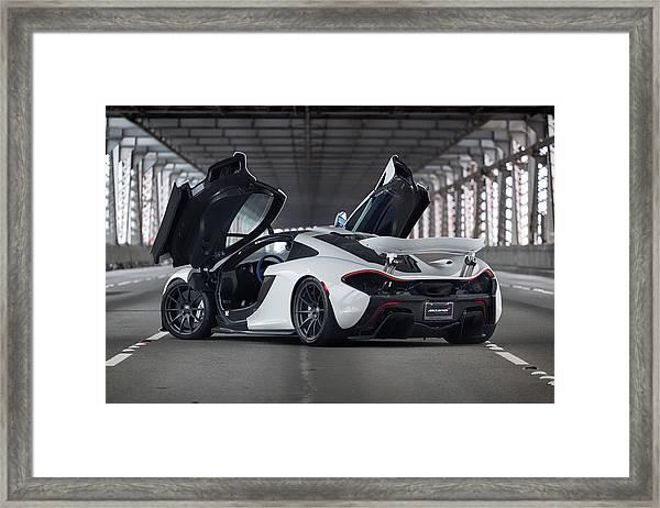 #mclaren #p1 #print Framed Print