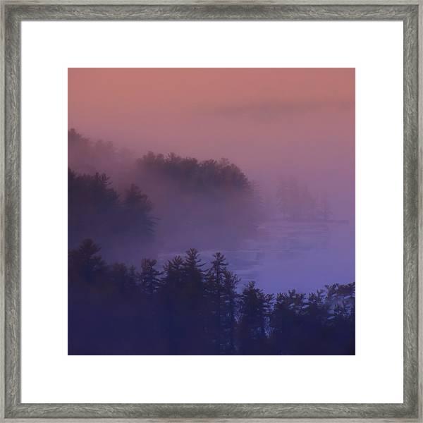 Melvin Bay Fog Framed Print