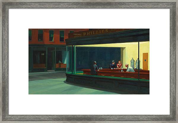 Nighthawks Framed Print