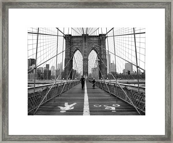 Nyc Brooklyn Bridge Framed Print
