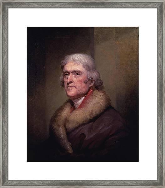 President Thomas Jefferson Framed Print