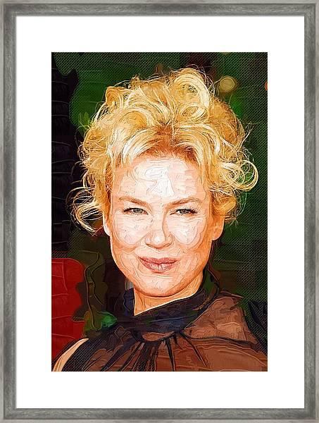 Renee Zellweger Portrait Framed Print
