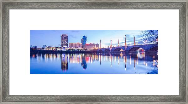 Springfield Massachusetts City Skyline Early Morning Framed Print