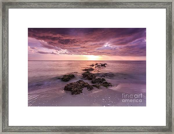 Sunset Naples Beach Florida Framed Print