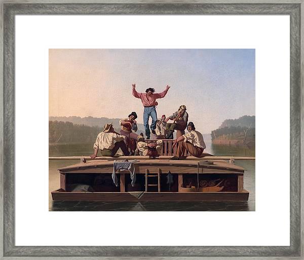 The Jolly Flatboatmen Framed Print
