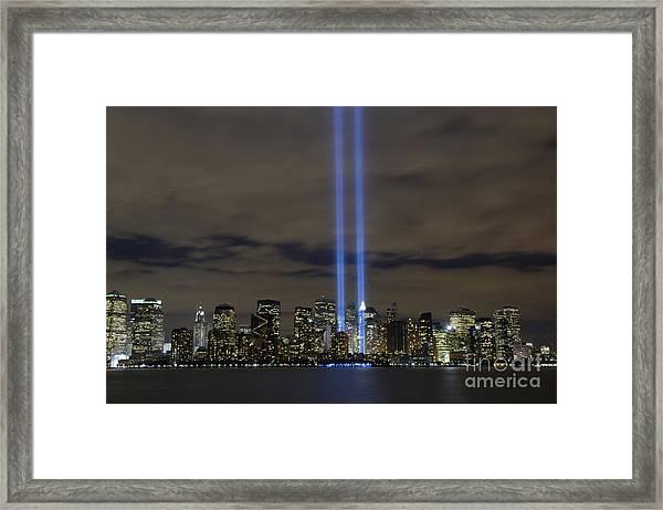 The Tribute In Light Memorial Framed Print