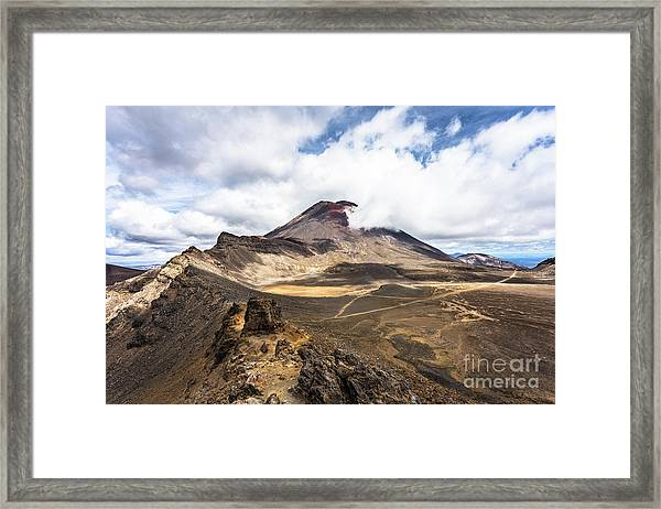 Tongariro Alpine Crossing In New Zealand Framed Print