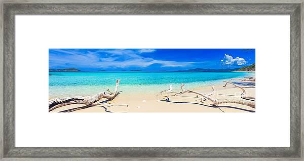 Tropical Beach Malcapuya Framed Print