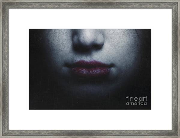 Trust Yourself Then You Will Know How To Live Framed Print