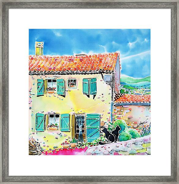 View Of Luberon Framed Print