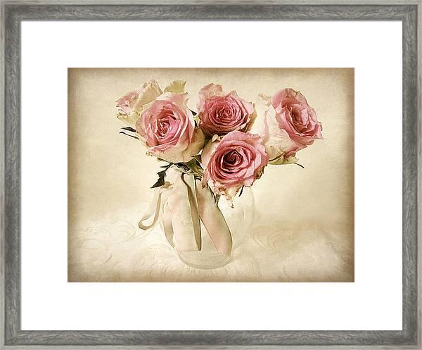 Vintage Bouquet Framed Print