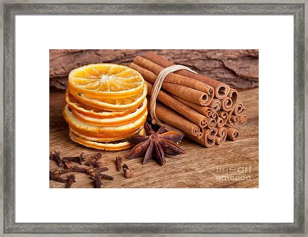Winter Spices Framed Print