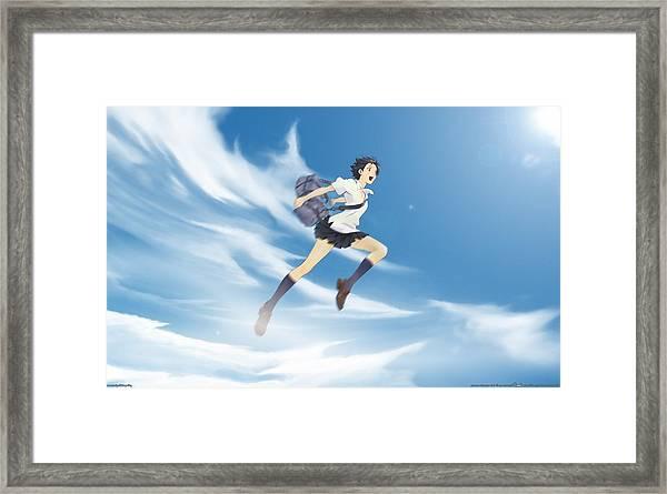 41551 The Girl Who Leapt Through Time Konno Makoto Anime Anime Girls Framed Print