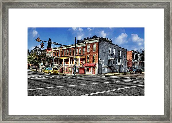43rd Street And York Road Framed Print