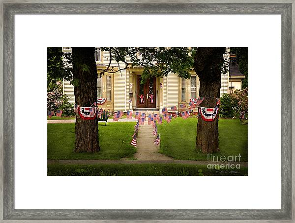 4th Of July Home Framed Print