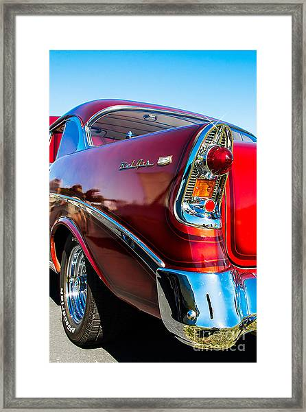 56 Chevy Bel Air Framed Print