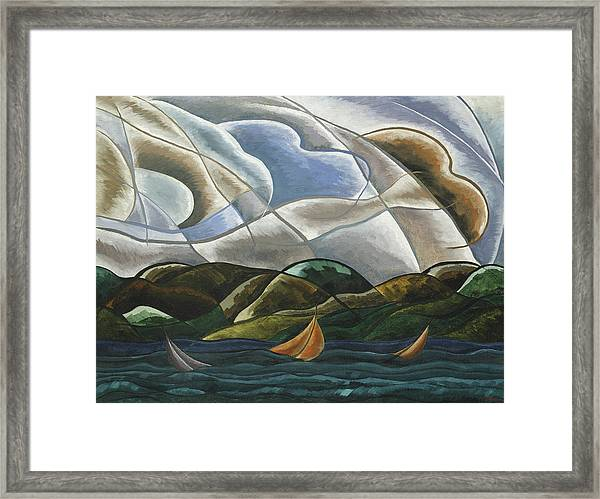 Clouds And Water Framed Print