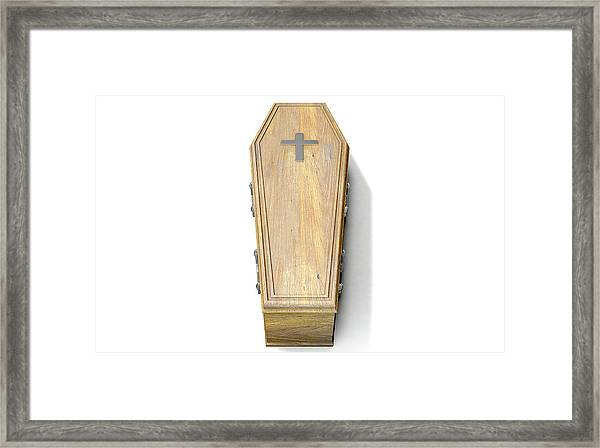 Coffin And Crucifix Framed Print