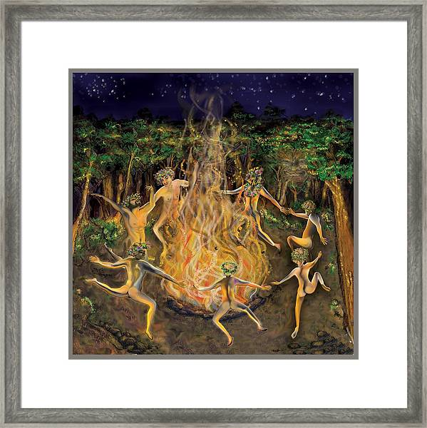 Dancing Naked In The Forest Cd Cover Framed Print