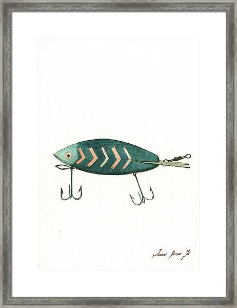 Fishing Lure Framed Print