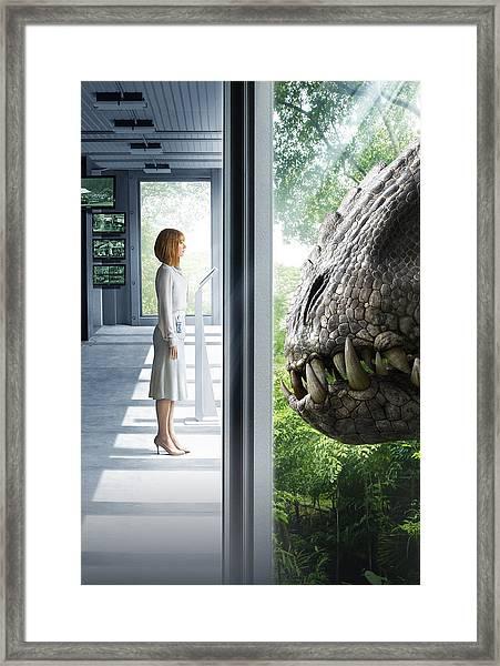 Jurassic World 2015  Framed Print