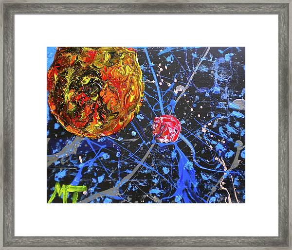 Midnight Transit Planet Framed Print