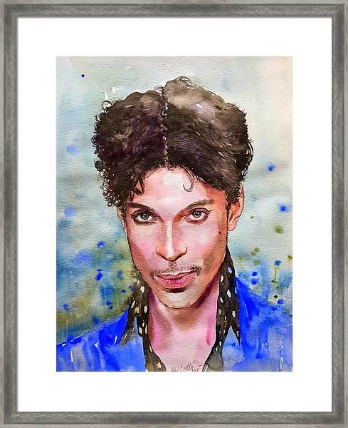Prince Rogers Nelson Portrait Framed Print