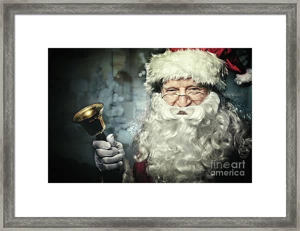 Santa Claus Portrait Framed Print by Gualtiero Boffi