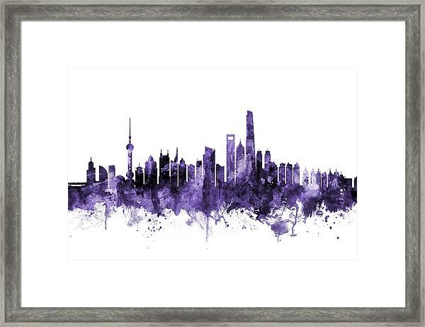 Shanghai China Skyline Framed Print