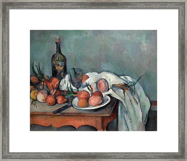 Still Life With Onions Framed Print