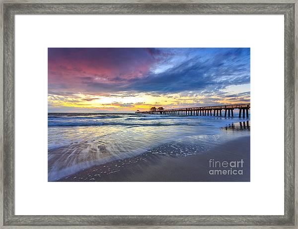 Sunset Naples Pier, Florida Framed Print